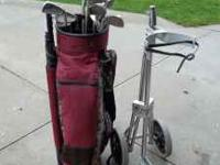 Wilson Golf Clubs, Bag and Cart - Women's Like New!!