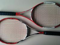 Hi there, I am selling two Wilson racquets from their