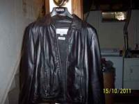 Size small ladies wilson thinslate leather jacket,