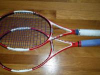 Two used tennis rackets. Price above for both rackets.