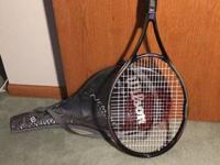 Wilson tennis racket with original Wilson tennis strap