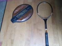 "Wilson ""Advantage"", light 4 3/8 wooden tennis racket."