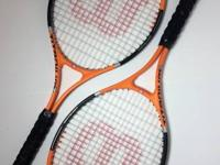 Set of two, extra-large Wilson Titanium 3 tennis