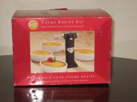 Brand New, Wilton Creme Brulee Set, It comes with 4