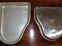 These VERY HARD to find pans are used & may have some