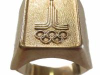 Win the Gold - 1980s Men 14Kt Gold Moscow Olympics