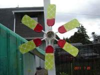 One of a kind,art fans (windmills) for sale,30.00 and