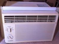 Window A/C, 20 in wide works well. Call  ,