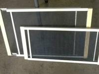 "2 sliding window screens. 1-10"" tall and 1-15"" tall"