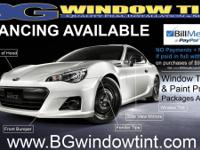BG Glass Window tint.  Store show get in touch with