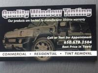 I have been doing window tinting for even more than 15
