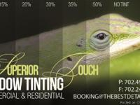 WE OFFER PROFESSIONAL WINDOW TINTING, WILL NOT BUBBLE,