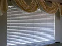 I am selling two faux wood blinds for a 4'x6' window