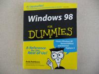 Windows 98 for Dummies instruction book, 382 pages,