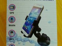A universal windshield mount holder for phones,  GPS,