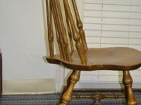 Nichols and Stone Windsor chairs (6) in solid hardrock