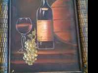 Nice wine art for kichen or dinning room. Nice for a