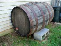 USED WINE BARREL 50 GALS. WAS LAST USED ABOUT TWO YEARS