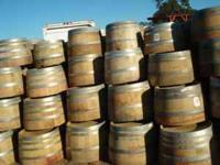 Fresh supply of Napa Valley Wine Barrels with holes