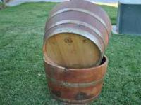 If you're looking for half wine barrels for planters -