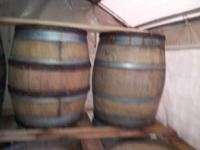 I have numerous French oak wine barrels, $125.00 a