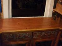 really nice piece, solid wood hand craved -grapes and