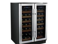 42-bottle capacity 2 independent zones, each with an