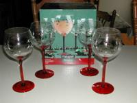 Wine Goblet Set/4 by Pfaltzgraff. The pattern is