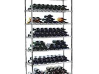 Two strong, ultra-sleek and stable Wine Racks. 7-shelf