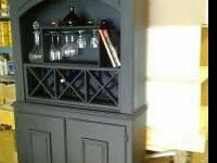Wine rack holds 12 bottles and 8 glasses, base cabinet