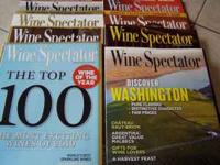 Wine Spectator Magazines 8 Issues 1)Top 100 - The most