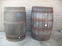 For Sale: (2) open top wine/whiskey barrels with