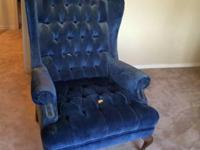 Wingback chair. Heavy construction. Would be great for