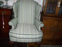 Antique Real Wingback Oversize Arm Chair rare not a