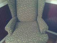 Pair of beautiful wingback chairs, very high quality.