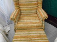 Wing Back Claw Leg Chair with Ottoman fit. The Sizes