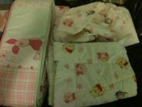 Winnie the Pooh 4 piece crib bedding for sale. Was put