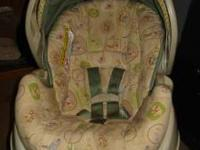 neutral colored winnie the pooh infant carrier and car
