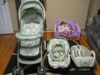 Winnie the Pooh stroller/carseat set. Also included is