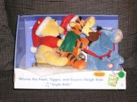 Adorable Winnie the Pooh, Tigger, and Eeyore sleigh