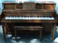 * Walnut Finish * Original Matching Bench * Plays Well,