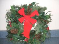 Winter wreath  (Christmas). $10.