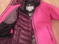 Winter jacket (pink): size M for women, excellent