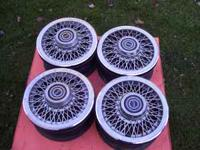 take off wire wheel covers and 14 in. 4 bolt wheels 86