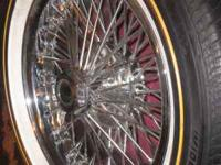 16 inch wire rims bolt on's not the knock offs 72 spoke