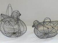 "Wire Chicken Baskets Small - 9"" x 5"" x 4.75"" High Large"