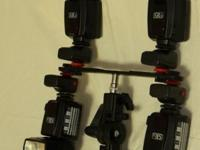 I am showing this 4 strobe wireless flash kit produced