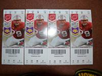 I have 4 Wisconsin Badger Season Ticket Seats for sale