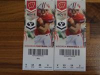 I am selling two tickets to the Badger Football game