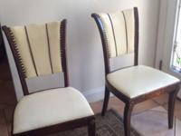 Two very unique dining chairs from the Wisconsin chair